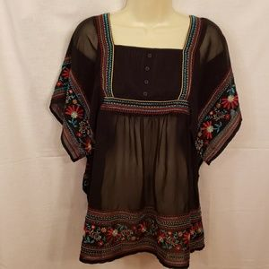 Beautiful Black With Embroidery design Ladies Top